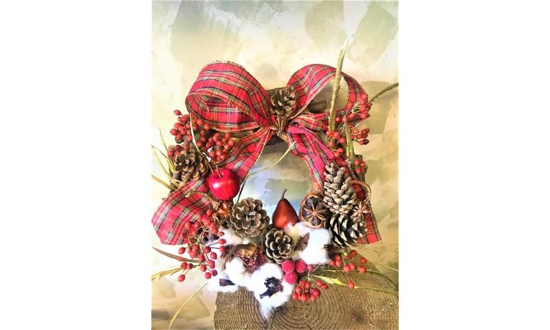 Dried Christmas Door Wreath